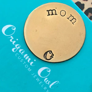 4 for $25 Origami Owl Large Gold MOM Plate 3I